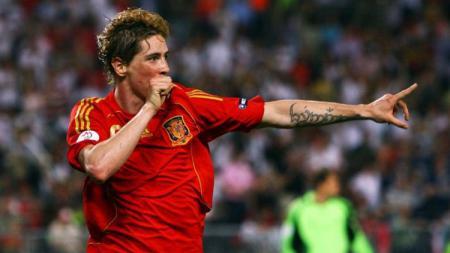 Penyerang Timnas Spanyol, Fernando Torres. - INDOSPORT