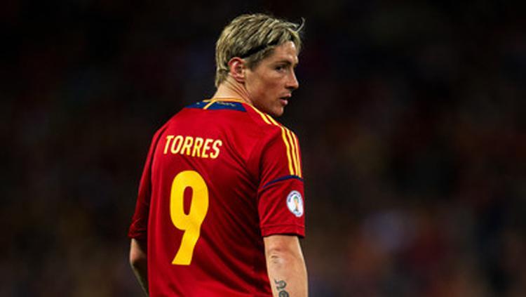 Penyerang timnas Spanyol, Fernando Torres. Copyright: INDOSPORT