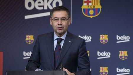 Presiden Barcelona, Josep Maria Bartomeu, kabarnya telah memberi lampu hijau untuk mendatangkan Antoine Griezmann. - INDOSPORT