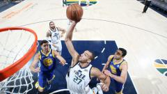 Indosport - Golden State Warriors vs Utah Jazz.