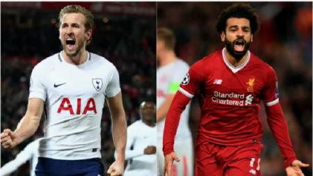 Harry Kane dan Mohamed Salah. - INDOSPORT
