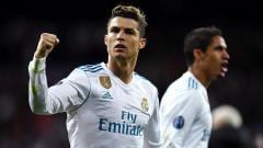 Indosport - Selebrasi Cristiano Ronaldo usai cetak gol ke gawang Juventus lewat penalty.