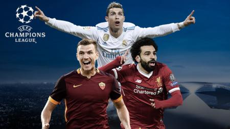Cristiano Ronaldo, Edin Dzeko, dan Mohamed Salah. - INDOSPORT