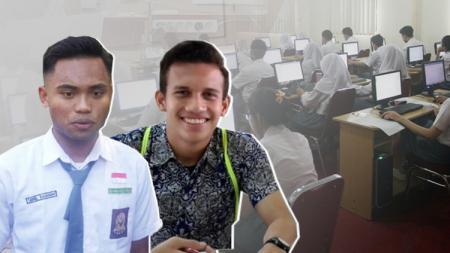 Saddil Ramdani dan Egy Maulana Vikri mengikuti ujian nasional (UN). - INDOSPORT
