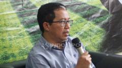 Indosport - Waketum PSSI, Joko Driyono pada acara diskusi PSSI Pers mengenai penyelenggaraan beberapa event sepakbola di Indonesia.