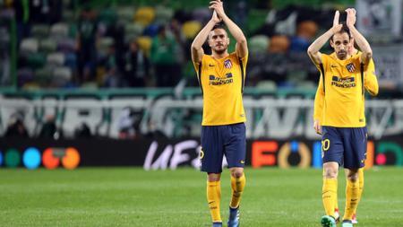 Atletico Madrid meski kalah tetap lolos ke semifinal Liga Europa 2017/18. - INDOSPORT