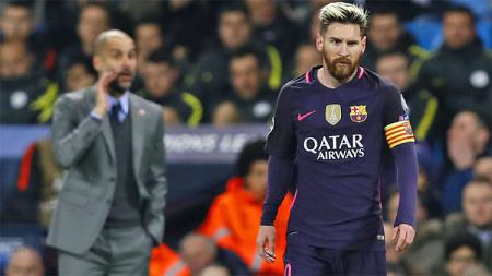 Lionel Messi dan Pep Guardiola - INDOSPORT