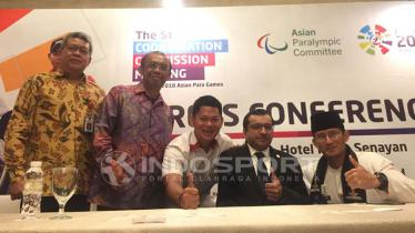 Konferensi pers Asian Para Games 2018. - INDOSPORT