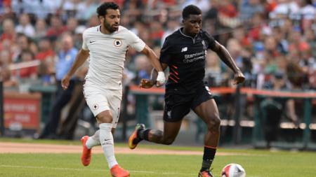 Mohamed Salah saat melawan AS Roma di tahun 2016. - INDOSPORT