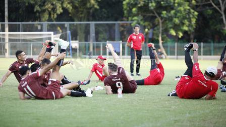 Latihan Persija digelar di Lapangan ABC, Senayan.