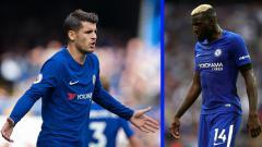 Indosport - Alvaro Morata (kiri) dan Tiemoue Bakayoko, dua pemain bintang Chelsea.