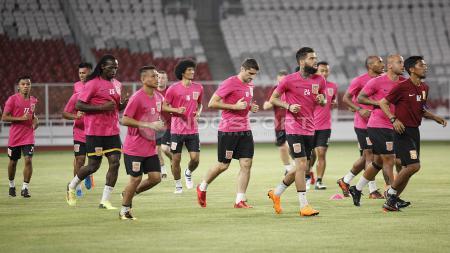 Borneo FC saat latihan jelang lawan Persija Jakarta. - INDOSPORT