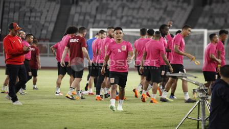 Borneo FC saat latihan jelang lawan Persija Jakarta.