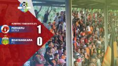 Indosport - Perseru Serui vs Bhayangkara FC.