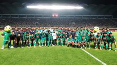 Indosport - Skuat PSS Sleman saat peluncuran jelang Liga 2 2018.