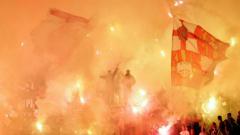 Indosport - Red Star vs Partizan.