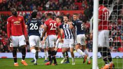 Indosport - Manchester United vs West Bromwich Albion.