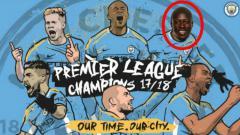 Indosport - Poster Juara Man City yang disunting Mendy.