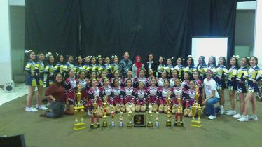Tim Cheerleader Charts asal Bandung. - INDOSPORT