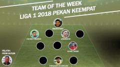 Indosport - Team of The Week Pekan Keempat Liga 1 2018.