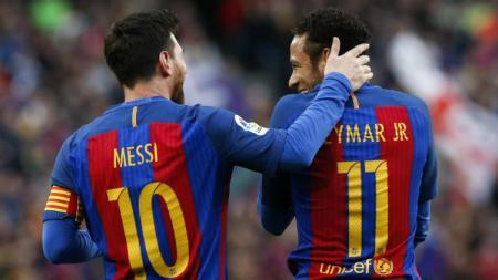 Lionel Messi dan Neymar saat berseragam Barcelona - INDOSPORT