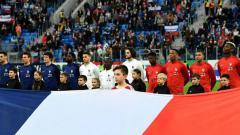 Indosport - Prancis saat uji coba menghadapi Rusia