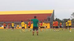 Indosport - Sriwijaya FC jalani latihan.