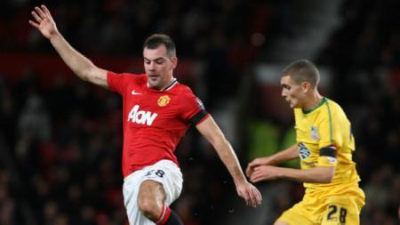 Darron Gibson saat masih berseragam Manchester United. - INDOSPORT