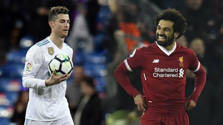 Cristiano Ronaldo dan Mohamed Salah - INDOSPORT