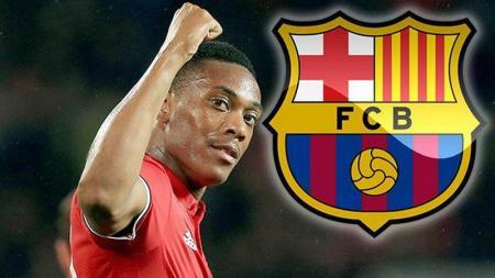Anthony Martial diisukan akan bergabung ke Barcelona. - INDOSPORT