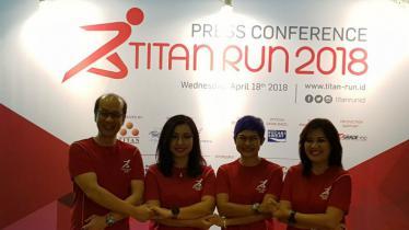 Komferensi pers Titan Run 2018. - INDOSPORT
