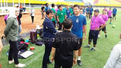 Indosport - Sriwijaya FC kedatangan Indra Sjafri dan Yusuf Mansur.