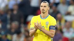 Indosport - Zlatan Ibrahimovic saat membela Timnas Swedia.