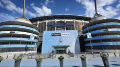 Indosport - Etihad Stadium, markas Manchester City.