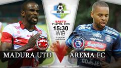 Indosport - Prediksi Madura United vs Arema FC