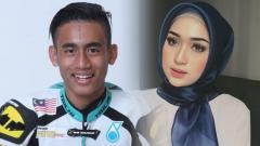 Indosport - Hafizh Syahrin dan istrinya Suzana Manaf.