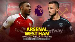 Indosport - Prediksi Arsenal vs West Ham United.
