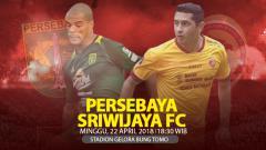 Indosport - Persebaya Surabaya vs Sriwijaya FC.