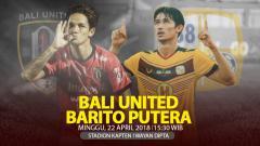 Indosport - Prediksi Bali United vs Barito Putera.