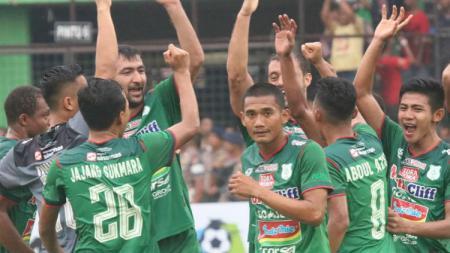 Selebrasi PSMS Medan di Stadion Teladan. - INDOSPORT