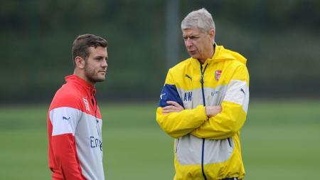 Jack Wilshere dan Arsene Wenger saat masih bersama di Arsenal. - INDOSPORT
