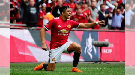 Selebrasi gol Alexis Sanchez - INDOSPORT