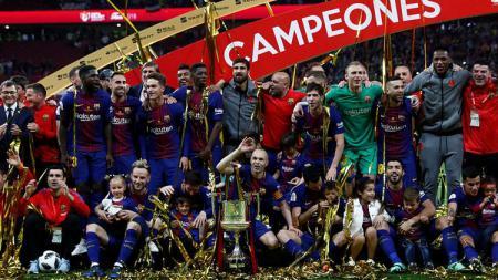 Barcelona juara Copa Del Rey usai berhasil  kalahkan Sevilla. - INDOSPORT