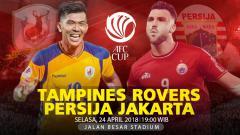 Indosport - Prediksi Tampines Rovers vs Persija Jakarta.