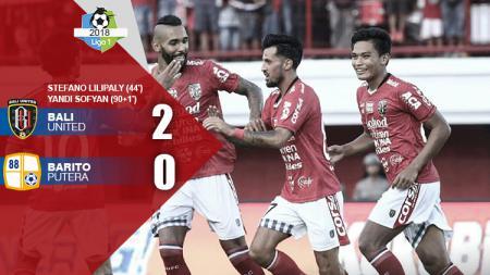 Hasil pertandingan Bali United vs Barito Putera. - INDOSPORT