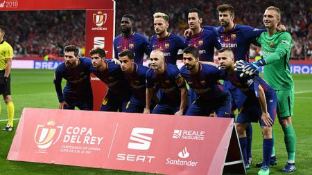 Skuat Barcelona di final Copa del Rey. - INDOSPORT