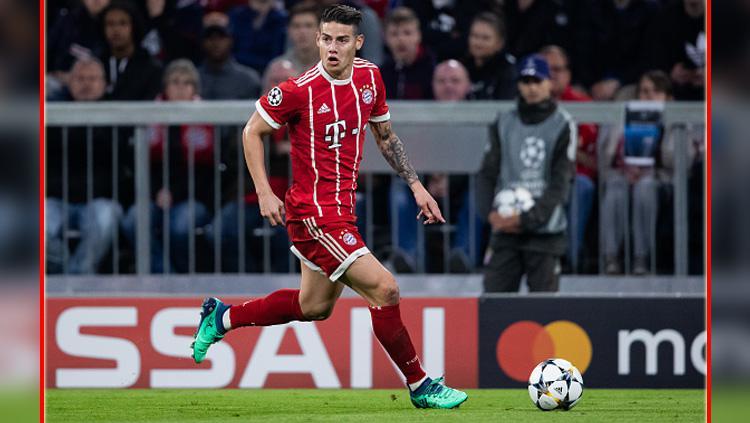 James Rodriguez, gelandang serang Bayern Munchen. Copyright: Getty Image