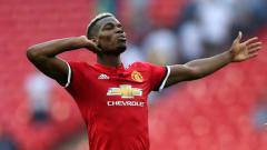 Indosport - Paul Pogba selebrasi.