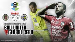 Indosport - Prediksi Bali United vs Global Cebu