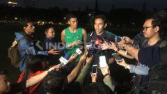Indosport - Asisten pelatih Timnas U-23 Indonesia,  Bima Sakti. Herry Ibrahim